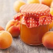 Apricot jam and fresh fruits — Stock Photo #28888633