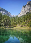 Green Lake in Styria — Stock Photo
