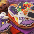 Halloween cookies — Stockfoto