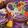 Halloween cookies — Stock fotografie