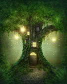 Fantasy tree house — Stock fotografie