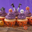 Group of halloween cupcake — Stock Photo