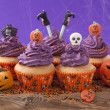 Group of halloween cupcake — Stockfoto