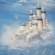Castle in the clouds — Stock Photo