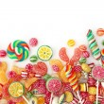 Mixed colorful fruit bonbon — Stock Photo