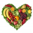 Foto Stock: Heart of fruits