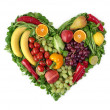 Heart of fruits — Stock Photo