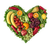 Heart of fruits — Stockfoto