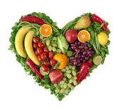Srdce z ovoce — Stock fotografie