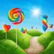 Candy land — Foto de Stock