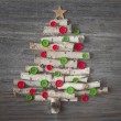 Green christmas tree — Stock Photo