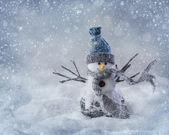 Smiling snowman  — Stock Photo