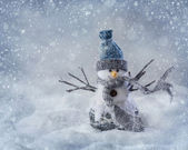 Smiling snowman — Stock Photo