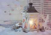 Burning lantern — Stockfoto