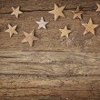 Wooden christmas stars — Stockfoto