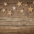 Wooden christmas stars — Stock Photo