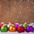 colorful christmas balls — Stock Photo #34931833