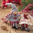 Stockfoto: Two little santa decoration