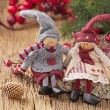 Stock Photo: Two little santa decoration