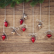 Christmas ornaments — Stockfoto #35212435