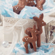 Foto de Stock  : Gingerbread reindeer cookies