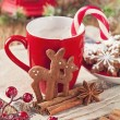Stock Photo: Gingerbread reindeer cookies