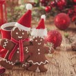 Christmas gingerbread men — Stock Photo