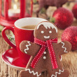 Christmas gingerbread man — Stock Photo