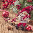 Little santa decoration — Stock Photo