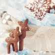 Gingerbread reindeer cookies — Stock Photo