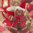 Christmas gingerbread man — Stock Photo #35739133