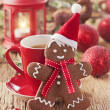 Christmas gingerbread man — Foto de Stock
