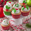Christmas cup cakes — Stock Photo #36645947