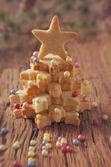 Christmas tree cakes — Stock fotografie
