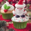 Christmas cup cakes — Stock Photo #36698079