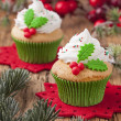 Christmas cup cakes — Stock Photo #36698099