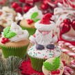 Christmas cup cakes — Stock Photo #37011211