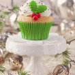 Stock Photo: Christmas cup cake