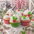 Christmas cup cakes — Stock Photo #37011567