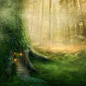 Fantasy tree house — Stockfoto