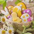 colorful easter cookies — Stock Photo #39621555