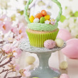 Easter basket cupcake — Stock Photo #42238583