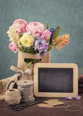 Flowers in a bag — Stock Photo