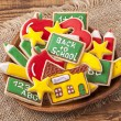 Back to school cookies — Stock Photo