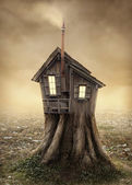 Fantasy tree house — Stock Photo
