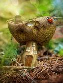 Casa fungo di fantasia — Foto Stock