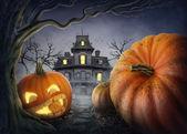Halloween pumpa — Stockfoto