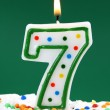 Number seven birthday candle — Stock Photo #6033355