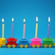 Birthday candle Train — Stock Photo #6034579