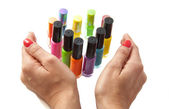 Colorful nailpolish — Stock Photo